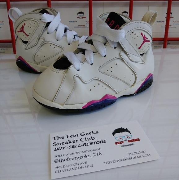 best service 886e9 be46a Baby Nike Air Jordan 7 Retro Girls Shoes Size 7.5c